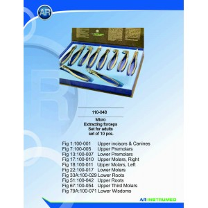 Micro Extracting Forceps- set pentru adulti